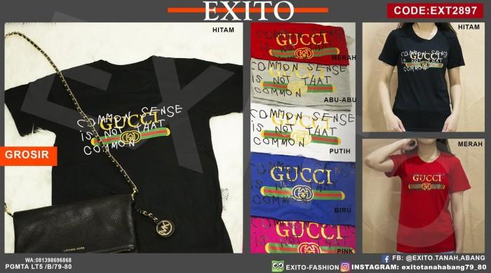 a875dbe3 Jual Kaos Grosir Gucci Scribbles Spandex - Pink - Exito-Fashion ...