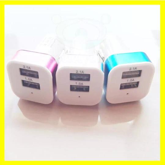 harga Car charger 2 usb dual output saver mobil casan carger colokan hp smar Tokopedia.com