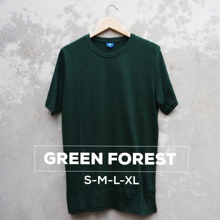 harga Baju kaos polos green forest pria wanita cewe cowo Tokopedia.com