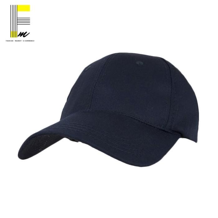 Jual Topi Baseball Polos Murah Keren Cap Pria Warna Navy Blue ... 69c4607de9