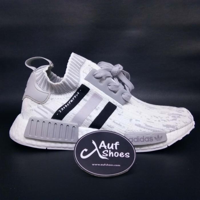wholesale dealer 8d601 10b59 Adidas NMD R1 Primeknit Glitch Camo white grey BY9865 - Putih, 39