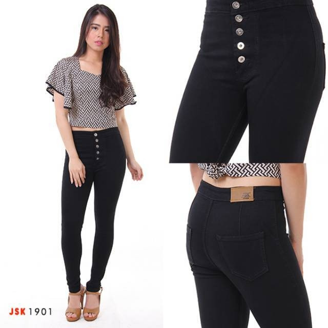 Jual Celana Panjang Highwaist Kancing 5 Jsk Jeans Original Produk