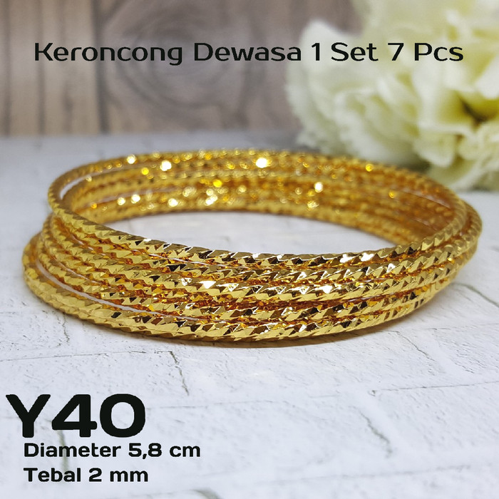 harga Y40 gelang keroncong 60 mm xuping yaxiya - perhiasan lapis emas 18k Tokopedia.com