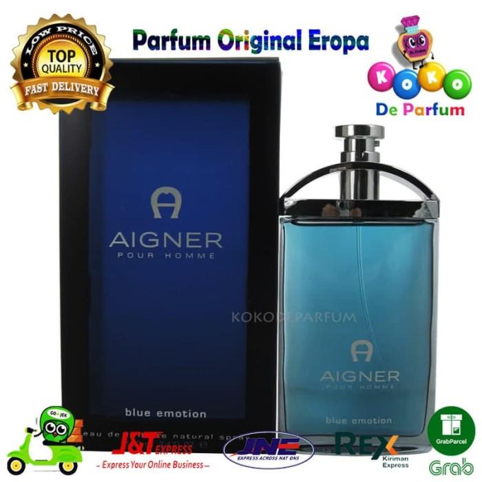 harga Parfume edt pria ori eropa aigner blue emotion  parfum original reject Tokopedia.com