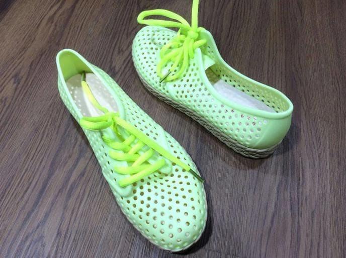 dd668s-tll sepatu karet jelly bara bara flat shoes casual