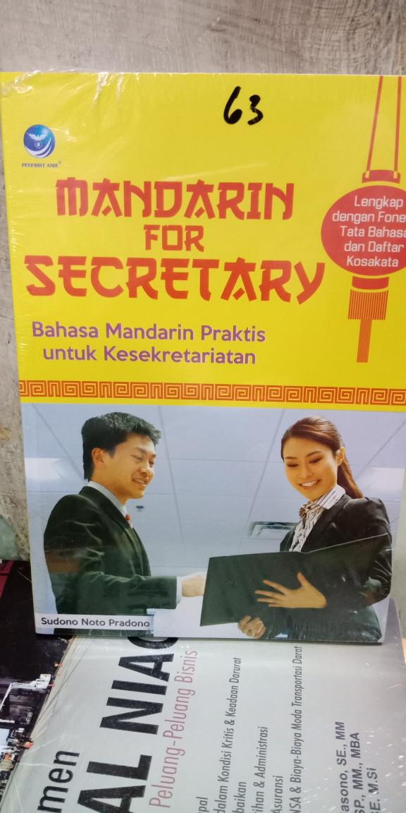 Foto Produk Mandarin for Secretary bahasa mandirin praktis untuk kesekretarisan dari Tokobuku Rostangg