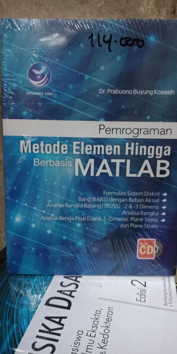 Foto Produk Pemrograman metode elemen hingga berbasis Matlab bonus cd dari Tokobuku Rostangg