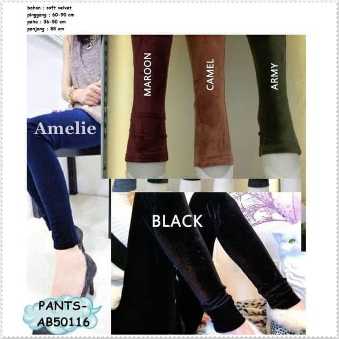 Jual Celana Panjang Wanita Legging Bludru Velvet Korea Pants Import Black Jakarta Pusat Lukalaku Tokopedia