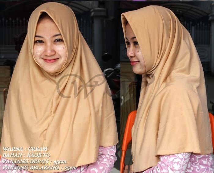 Jual Cream Jilbab Instan Bergo Kerudung Syria Hijab Muslimah Murah Jakarta Timur Melinda Lancar Tokopedia