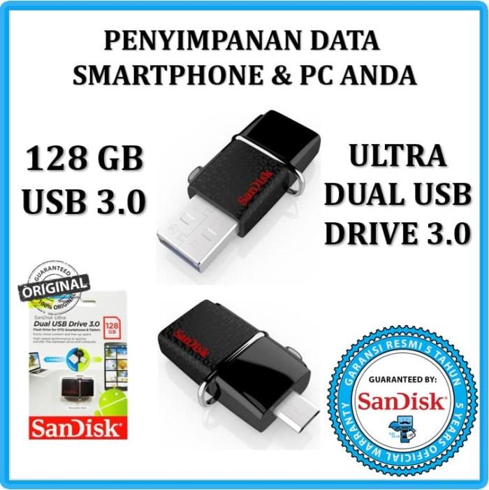 harga Otg usb flashdisk sandisk 128 gb for android & windows/mac usb 3.0 Tokopedia.com