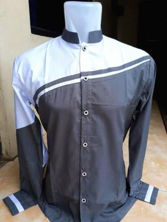 Baju koko hadroh terbaru hitam kombi putih0