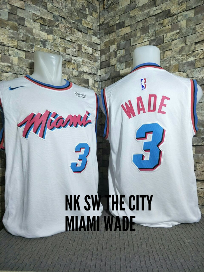 Jual JERSEY NBA SWINGMAN REVO MIAMI HEAT CITY EDITION DWYANE WADE ... 20b231f0a
