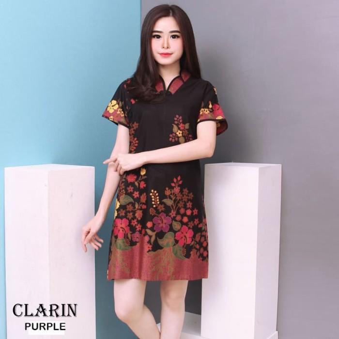 harga Clarin - dress batik modern gaun batik baju cheongsam murah Tokopedia.com