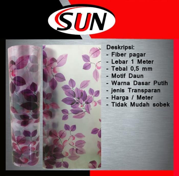 harga Fiber plastik penutup pagar motif bunga daun ungu per meter Tokopedia.com