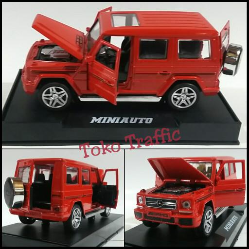 harga Diecast mercedes benz g class merah pajangan dasbor mobil Tokopedia.com