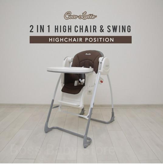 Jual Kursi Makan High Chair Dan Swing Ayunan 2in1 Cocolatte Cl70ml