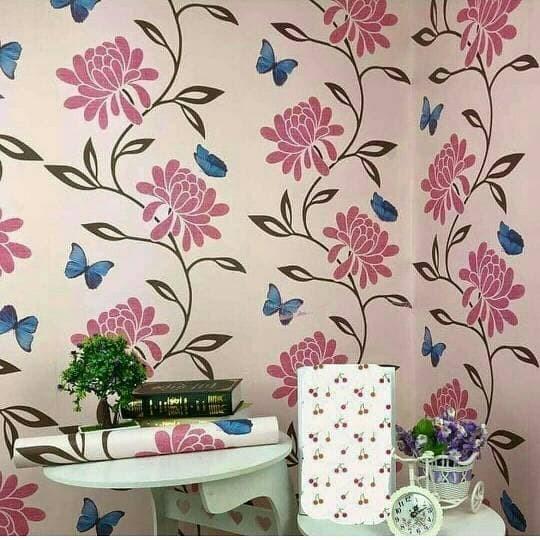 jual wallpaper sticker dinding walpaper stiker murah kupu kupu bunga