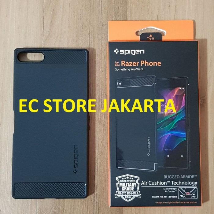 save off 59435 3c7cd Jual Original Spigen Rugged Armor Case Razer Phone Black - Jakarta Utara -  EC Store Jakarta   Tokopedia
