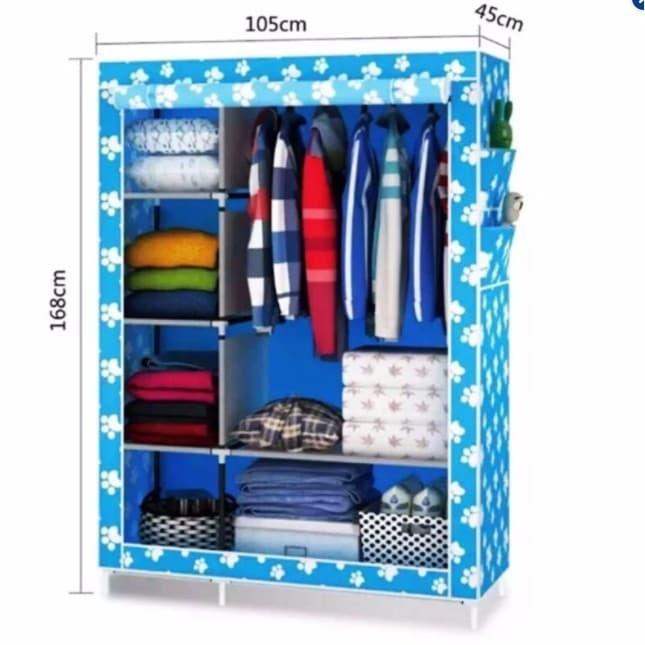 Best Seller (3KG) 105 Ntox lemari plastik lemari kain oxford 3 SISI