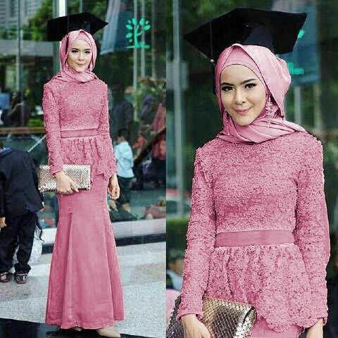 Jual Kebaya Modern Kebaya Wisuda Kekinian Pink Gamis Pesta