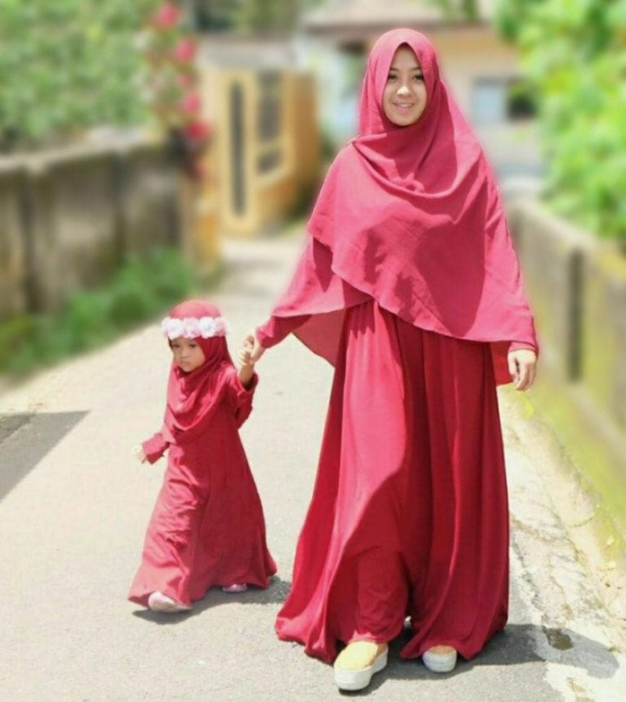 harga Fr couple momkids hijab casilla set bergo / fashion hijab ibu dan anak Tokopedia.com