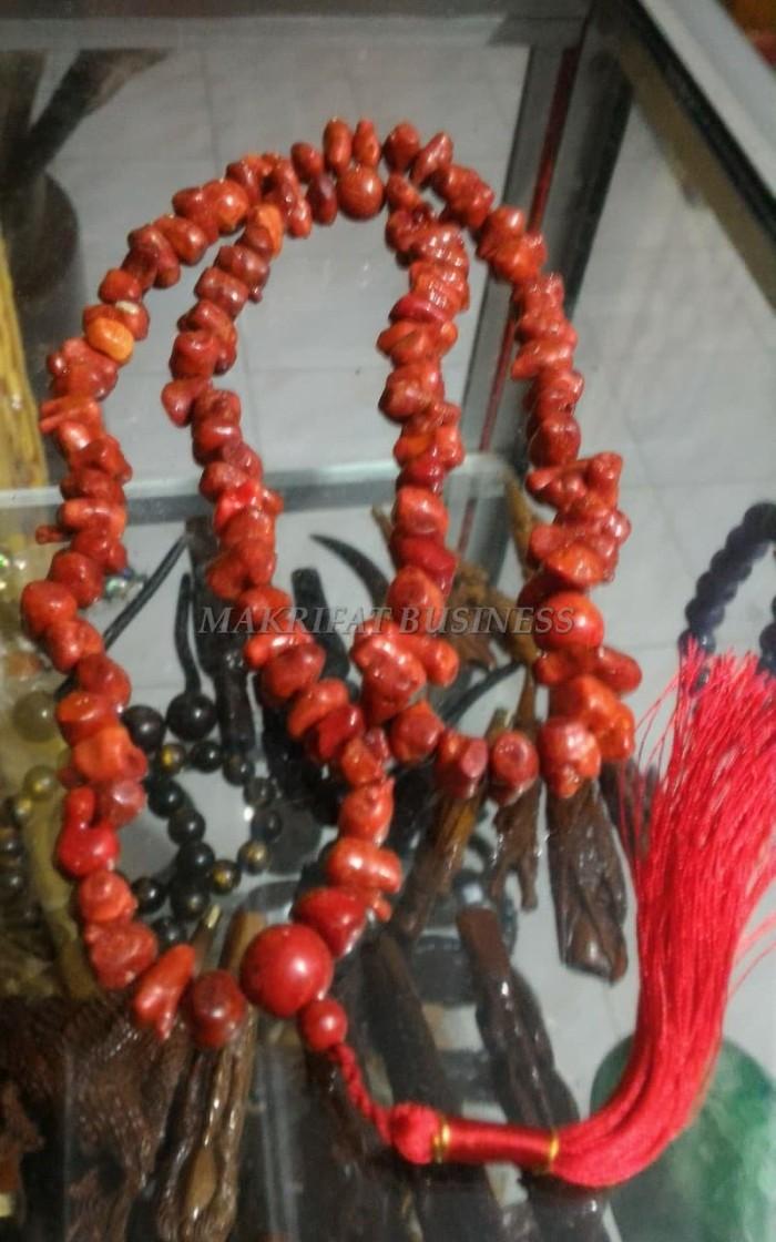 Tasbih Etnik Batu Marjan Red Coral Abstrak 99 at MAKRIFATBUSINESS