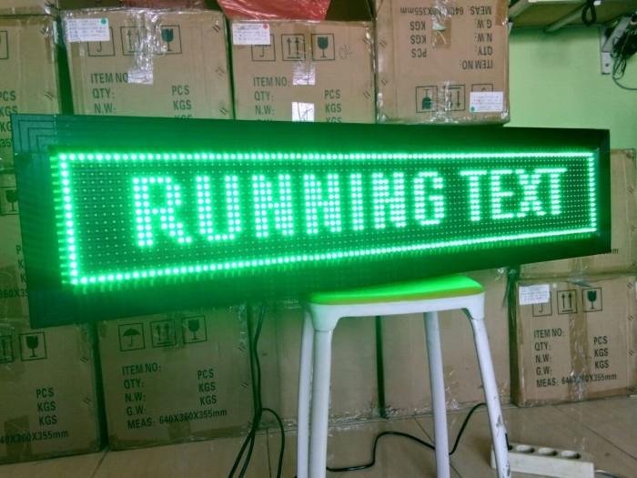 Jual LED running text ukuran 16x64/24x72 2 sisi outdoor Hijau - Kab  Bekasi  - Perwira Technology | Tokopedia