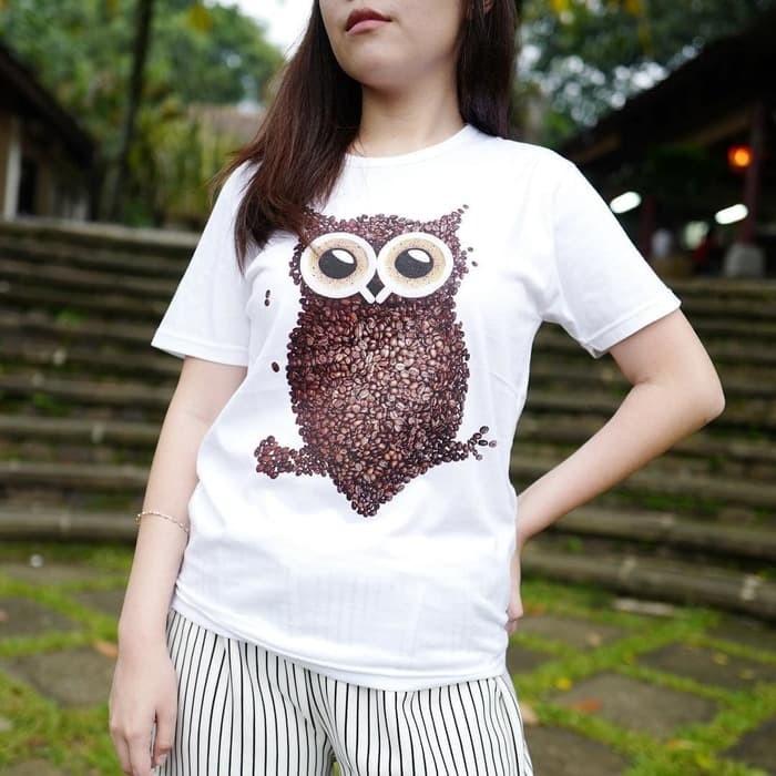 harga Baju kaos owl tumblr tee untuk cewe t-shirt cotton Tokopedia.com