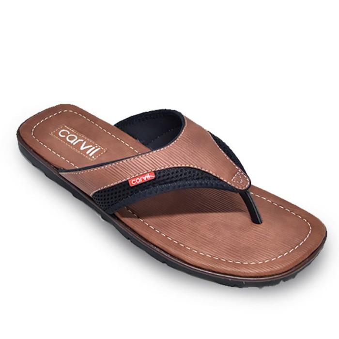 harga Carvil sandal casual men movic 01 m brown - cokelat muda 40 Tokopedia.com