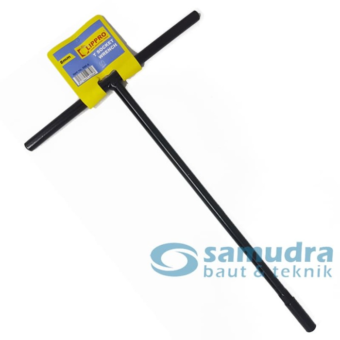 Foto Produk Kunci Sok T Hitam 8 mm LIPPRO T-Socket dari Samudra Baut Teknik