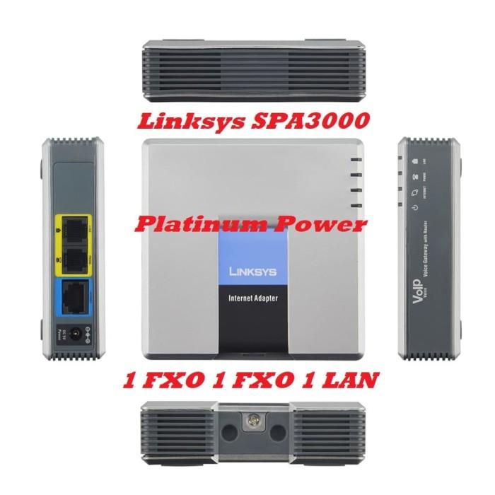 harga Linksys spa3000 voip voice gateway 1 fxs 1 fxo 1 lan Tokopedia.com