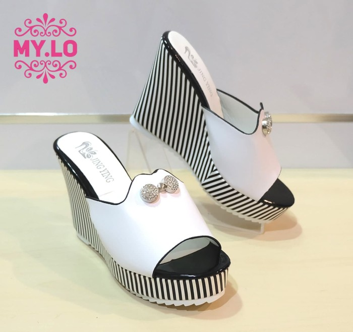 harga Sandal wedges heel pesta casual wanita import mylo ms0501 high qlty Tokopedia.com