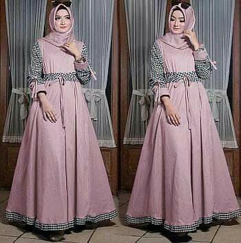 BAJU MUSLIM WANITA TERUSAN RNMAXINAOMI. Flavia Store Maxi Dress Lengan Panjang FS0641 .