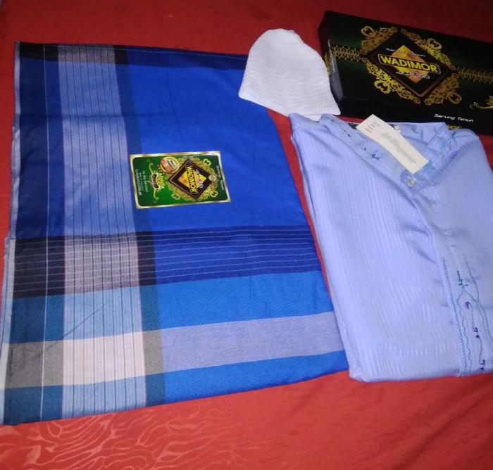 harga Paket lebaran koko sarung wadimor+peci rajut/baju muslim modern/goyor Tokopedia.com
