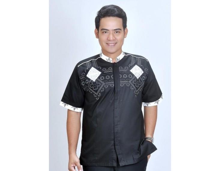 Terbaru - baju koko taqwa muslim pria hitam - baju lebaran murah spicc