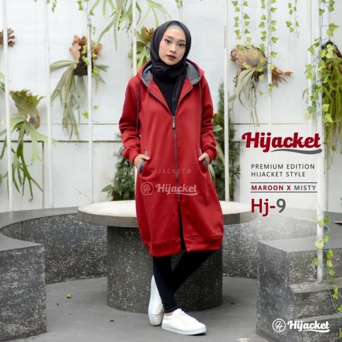 harga Jaket hijab original muslimah hijaber sweater polos cewe hijacket hj9  Tokopedia.com 4d6edfb7b5