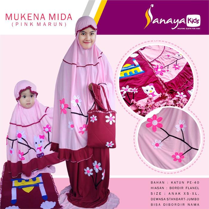 harga Mukena ibu dan anak - hello kitty sakura (ukuran dewasa jumbo) Tokopedia.com