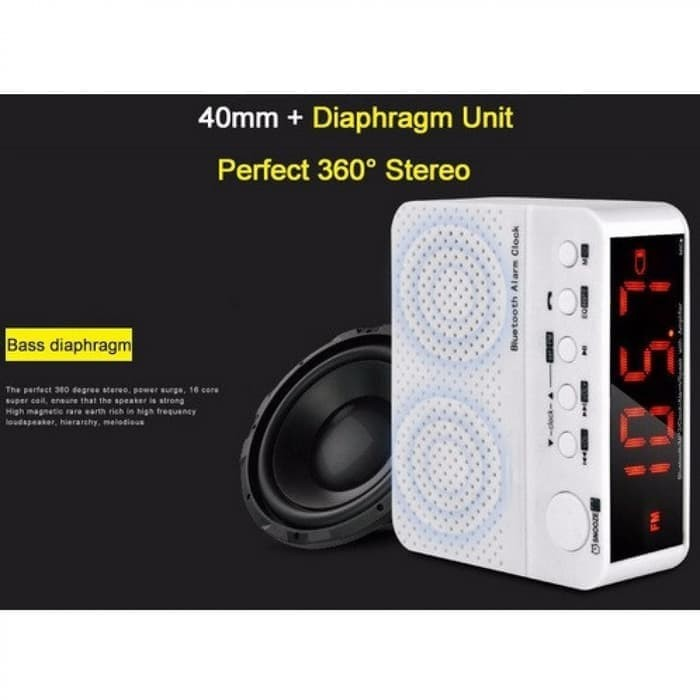 harga Speaker mini bluetooth radio fm am meja jam weker digital kd-66 Tokopedia.com