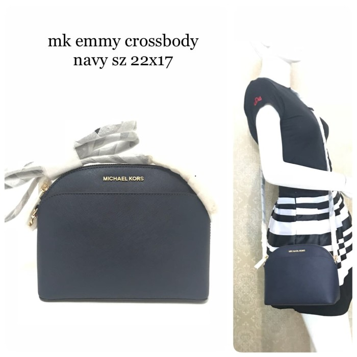 cf4d5f0eb9d362 Jual Tas michael kors original - Mk emmy crossbody navy - Kota ...