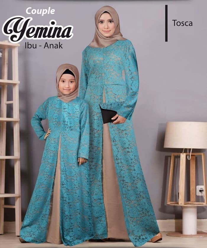 Jual Baju Gamis Couple Ibu Dan Anak Gamis Couple Yemina Tosca