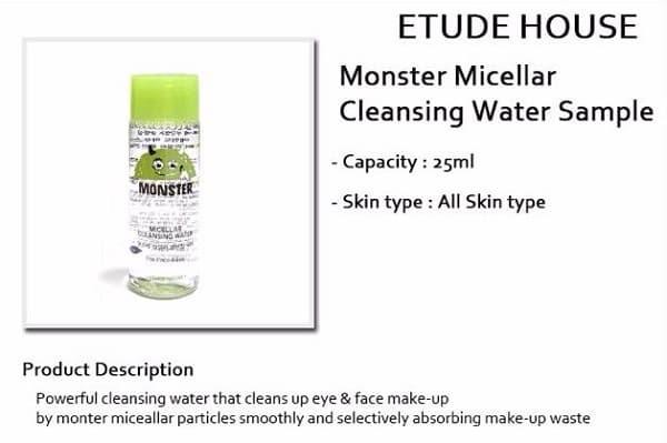 [ORI] Etude House Monster Micellar Cleansing Water 25ml Sample