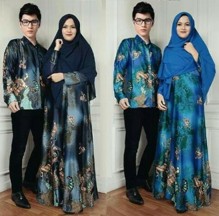 Termurah couple adriana baju muslim pasangan gamis syari kemeja batik
