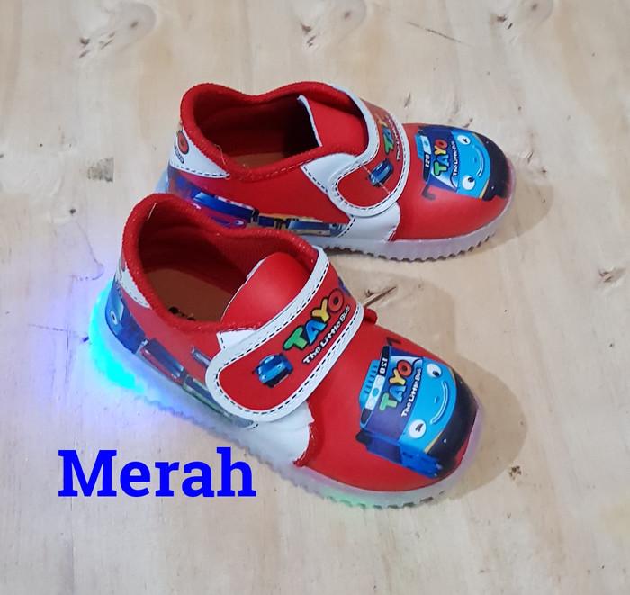 harga Sepatu tayo lampu #sepatu lampu anak #sepatu cars #sepatu spiderman Tokopedia.com