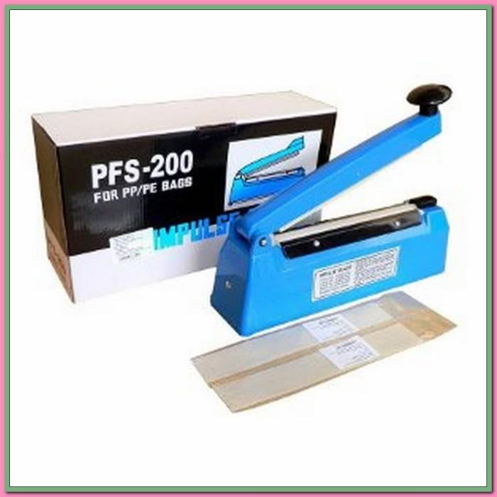 Impulse sealer Q2 PFS- 200 Mesin Alat Pres Plastik 20 Cm 20Cm Luxury