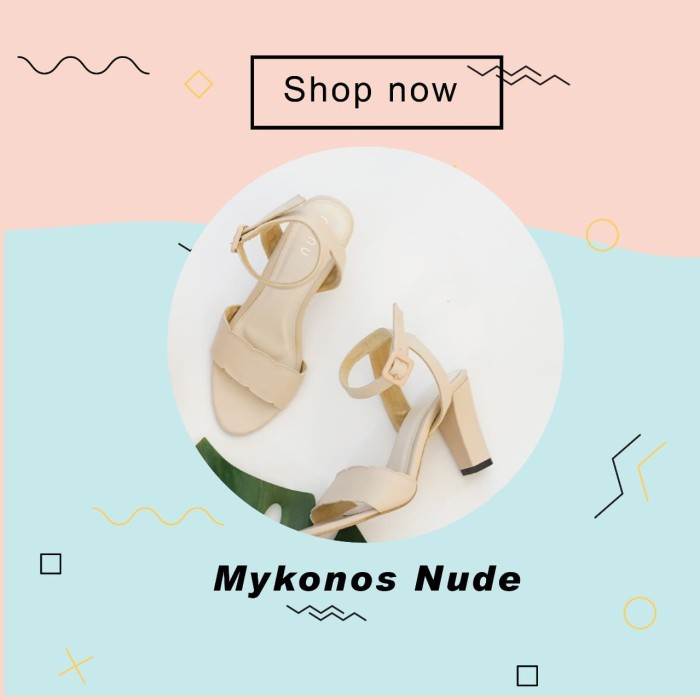 Hello nuku mykonos nude strappy heels - ivory 38