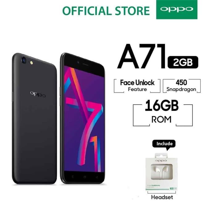 harga Oppo a71 ( 2018 ) 4g smartphone - black - 2gb/16gb garansi resmi Tokopedia.com