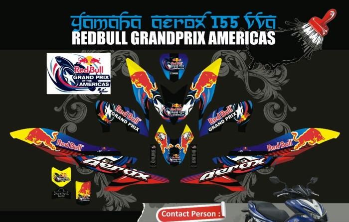 harga Sticker motor aksesoris body motor aerox 155 vva redbull Tokopedia.com