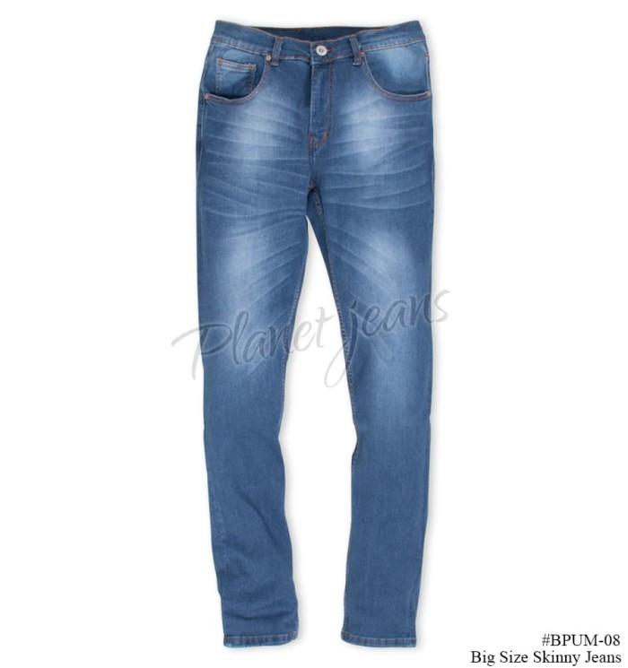 Bpum08 celana jeans model skinny big size denim ukuran besar .