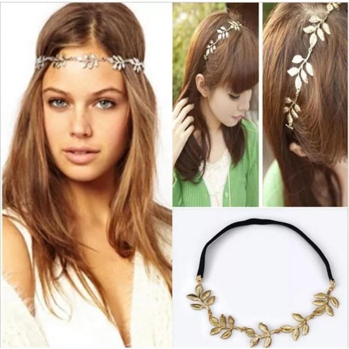 harga Bando metal daun hiasan rambut kalung gold leaf Tokopedia.com