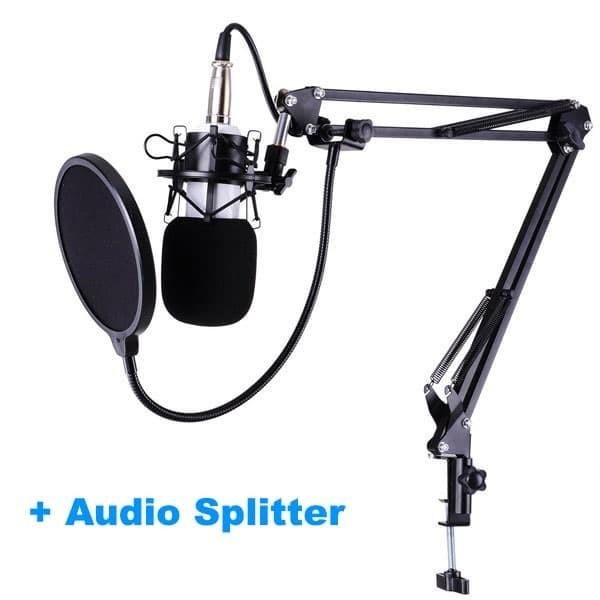 harga Microphone mic bm-700 bm700 + arm stand + audio splitter + pop filter Tokopedia.com